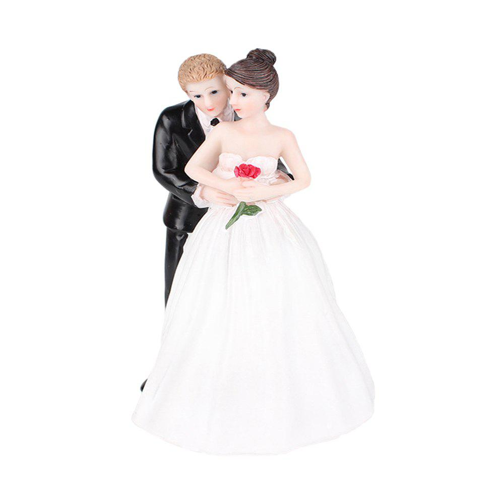 Fashion Romantic Rose The Bride The Groom Cake Topper Ornaments Decoration