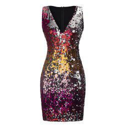 Sexy Sequins Wrapped Hip Skirt Dress -