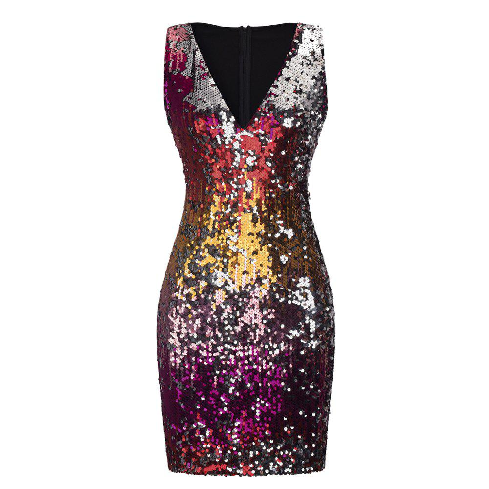 Hot Sexy Sequins Wrapped Hip Skirt Dress