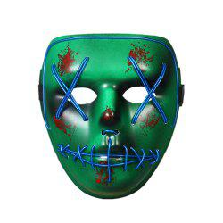 Halloween Mask LED Glow Scary EL Wire Light Up Grin Masks for Festival Parties -