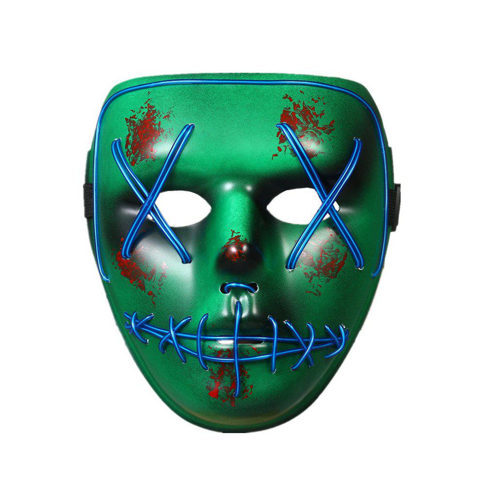 Fancy Halloween Mask LED Glow Scary EL Wire Light Up Grin Masks for Festival Parties