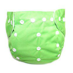 Waterproof Breathable Button Type Washable Baby's Diaper Pants -