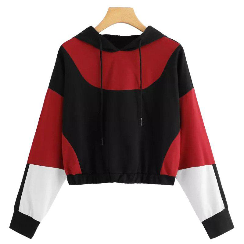 Fashion Hoodie Sweatshirt Hooded Pullover Blouse Womens Autumn Long Sleeve Cropped Tops