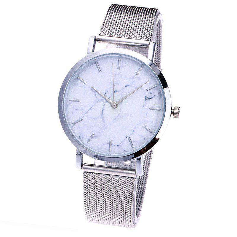 Latest Fashion Mesh Band Creative Marble Wrist Casual Women Quartz Watch Gift