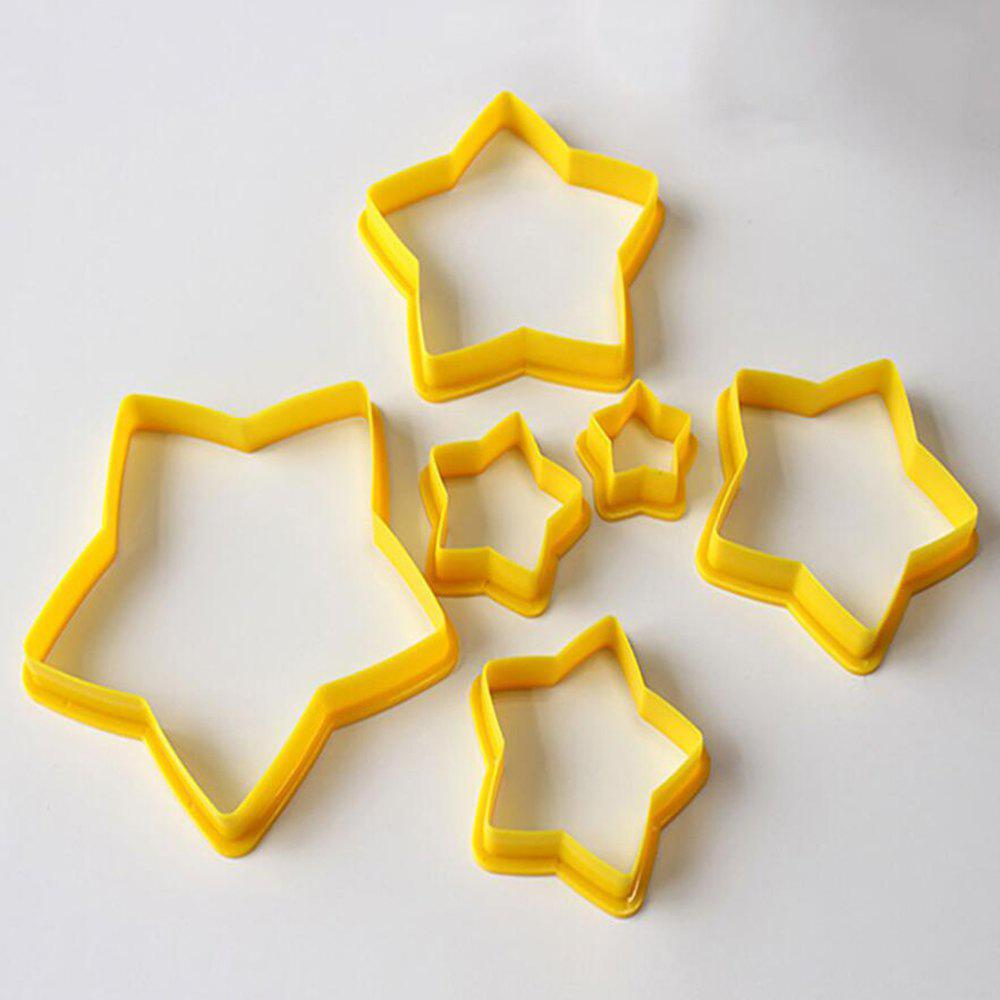 chic 6pc christmas tree cookie cutters star shape fondant cake biscuit molds