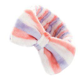 Hair Hoop Bowknot Soft Striped Lovely Headbands Beauty Tool -