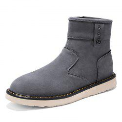 Men'S Plus Cotton Warm Non-Slip High Boots -