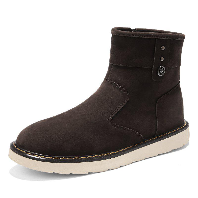Fashion Men'S Plus Cotton Warm Non-Slip High Boots