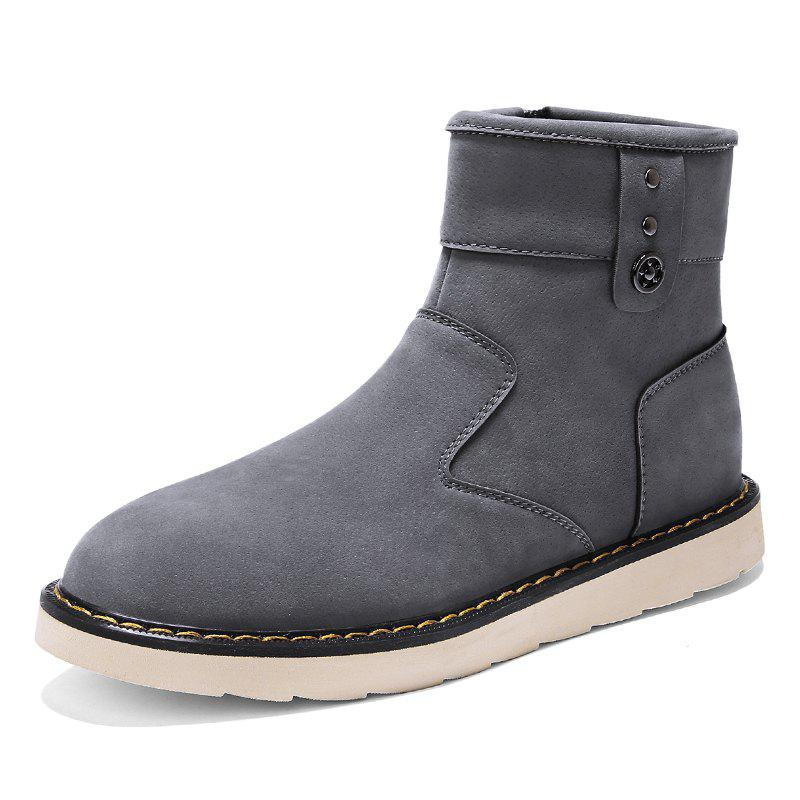 Unique Men'S Plus Cotton Warm Non-Slip High Boots
