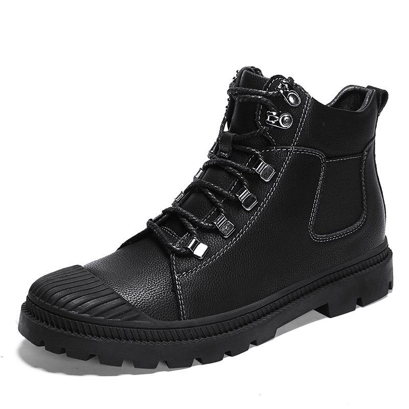 New Men'S Leather High-Top Non-Slip Wear-Resistant Casual Martin Boots