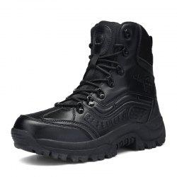 Men'S High-Top Wear-Resistant Non-Slip Warm Outdoor Martin Military Boots -