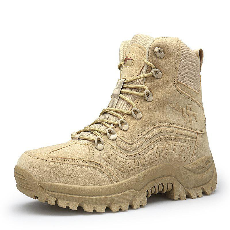 Hot Men'S High-Top Wear-Resistant Non-Slip Warm Outdoor Martin Military Boots