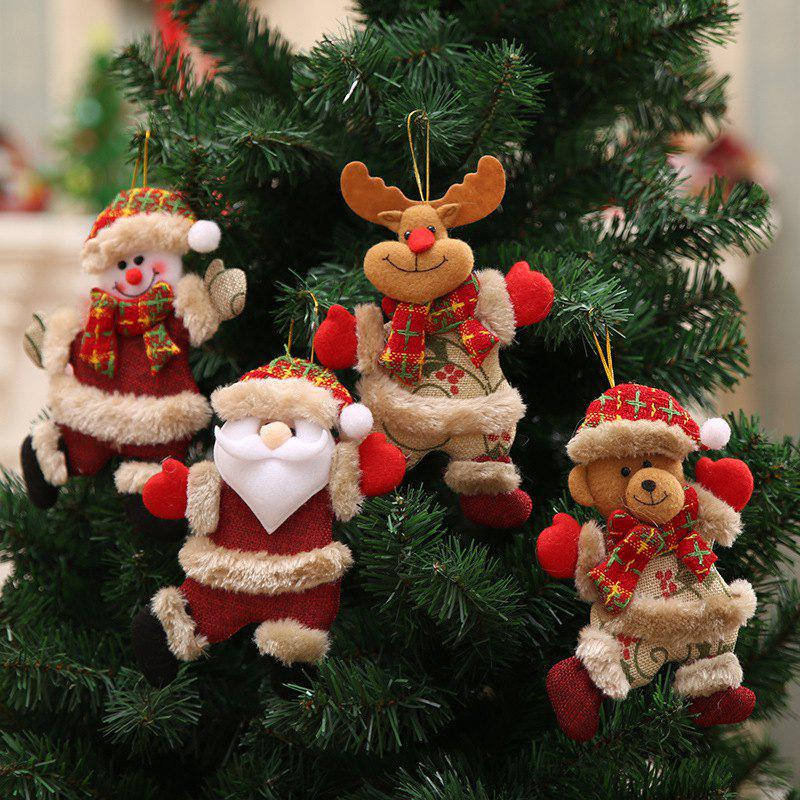 Outfit 4Pcs Christmas Pendant Hanging Gift Decoration