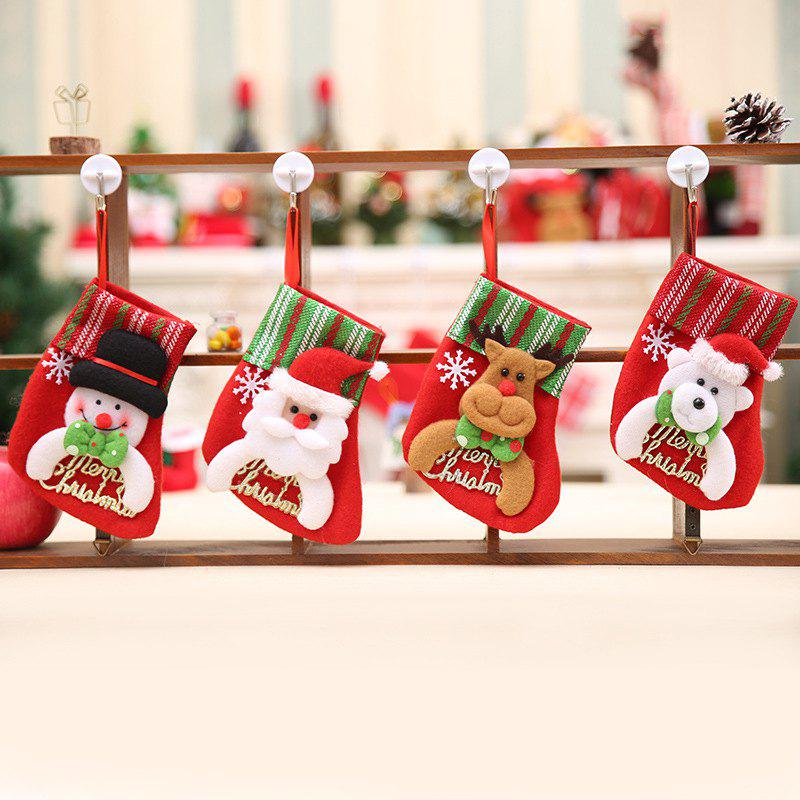 Fancy 4Pcs Creative Hanging Christmas Stockings