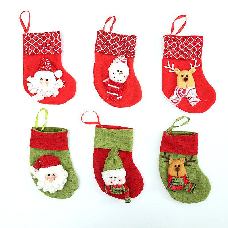Chic 6Pcs Christmas Stocking Bag for Home Decoration