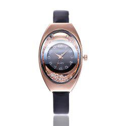 Ms Thin Belt Ball Digital Quartz Watch -