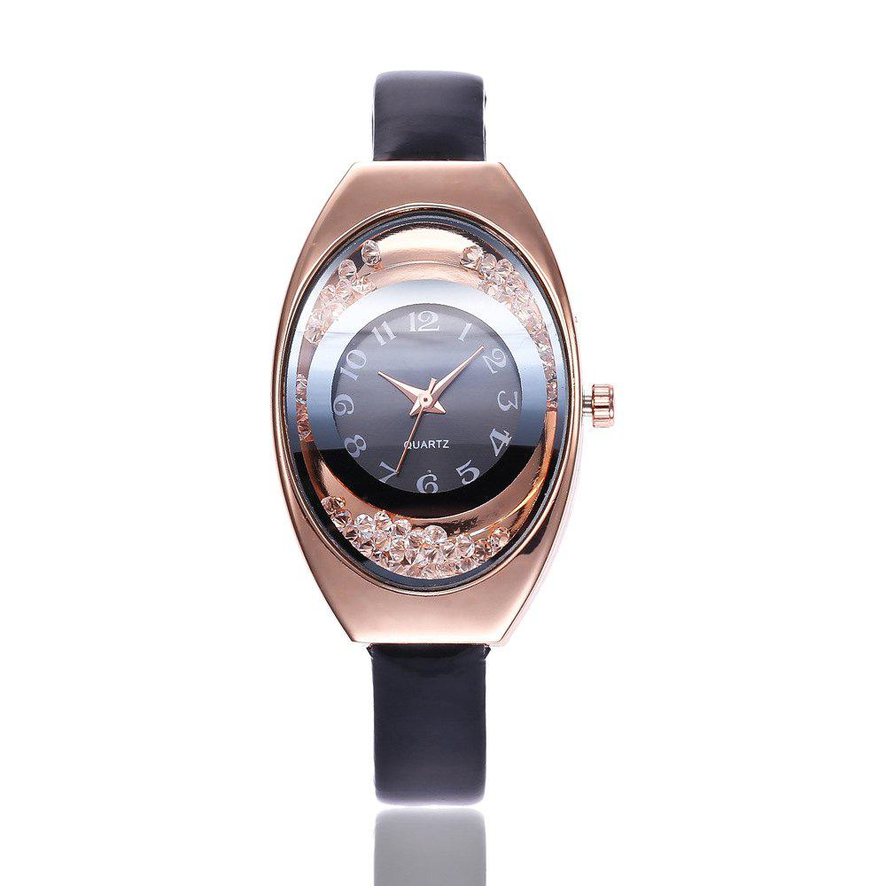 Outfit Ms Thin Belt Ball Digital Quartz Watch