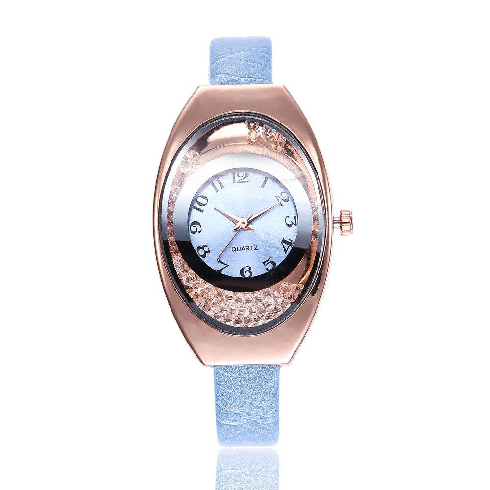 Unique Ms Thin Belt Ball Digital Quartz Watch