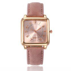 Ladies Fashion Gold Surface Strap Watch -