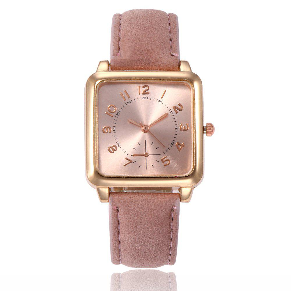 Shop Ladies Fashion Gold Surface Strap Watch