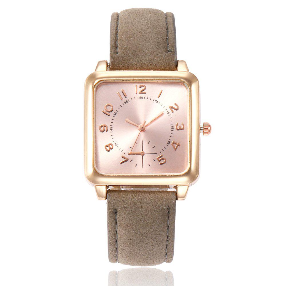 Outfits Ladies Fashion Gold Surface Strap Watch