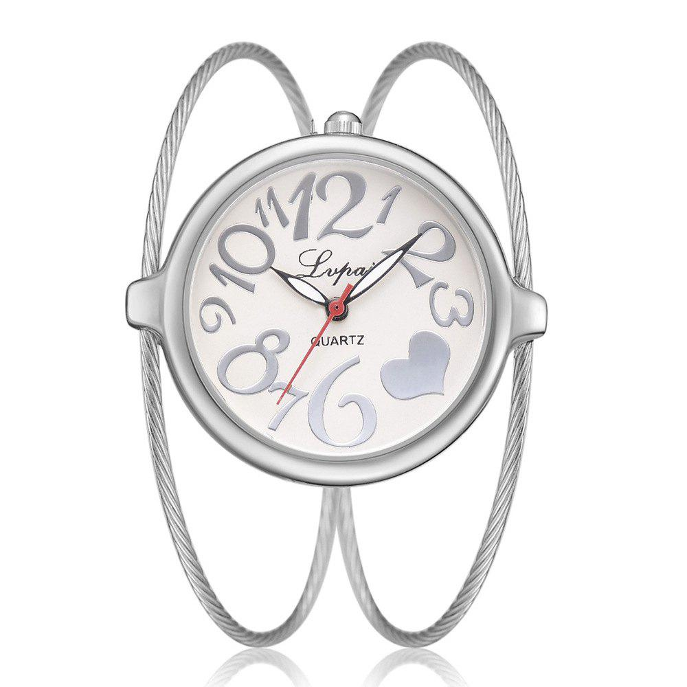 Buy Ms Wiredrawing Delicate Big Dial Quartz Bracelet Watch