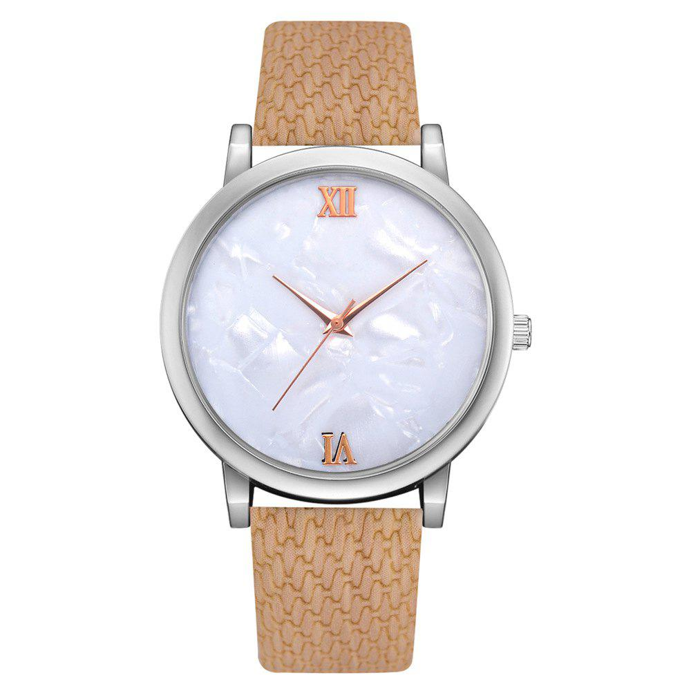 Shops Recreational Temperament Female Students Quartz Weave Pattern Strap Watch