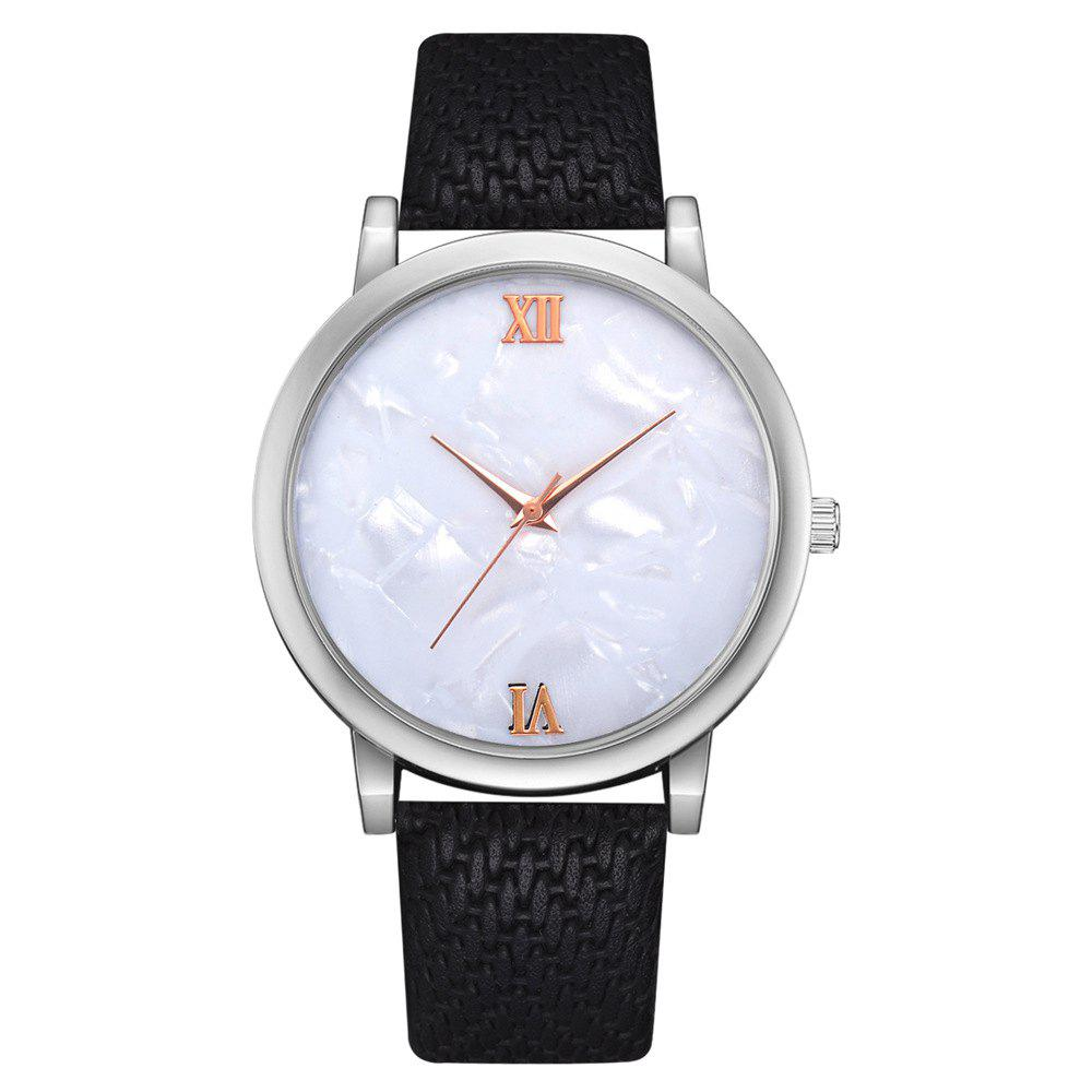 Trendy Recreational Temperament Female Students Quartz Weave Pattern Strap Watch