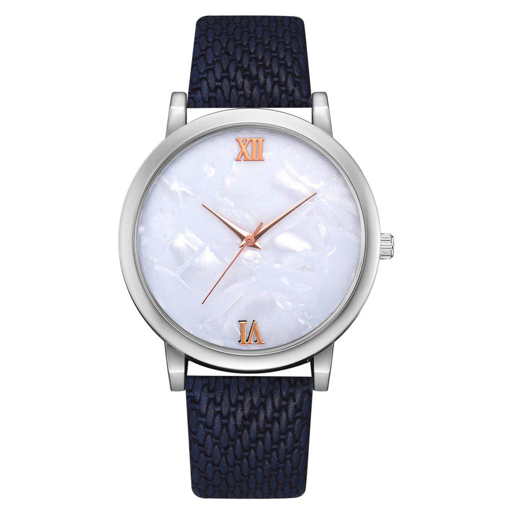 Shop Recreational Temperament Female Students Quartz Weave Pattern Strap Watch