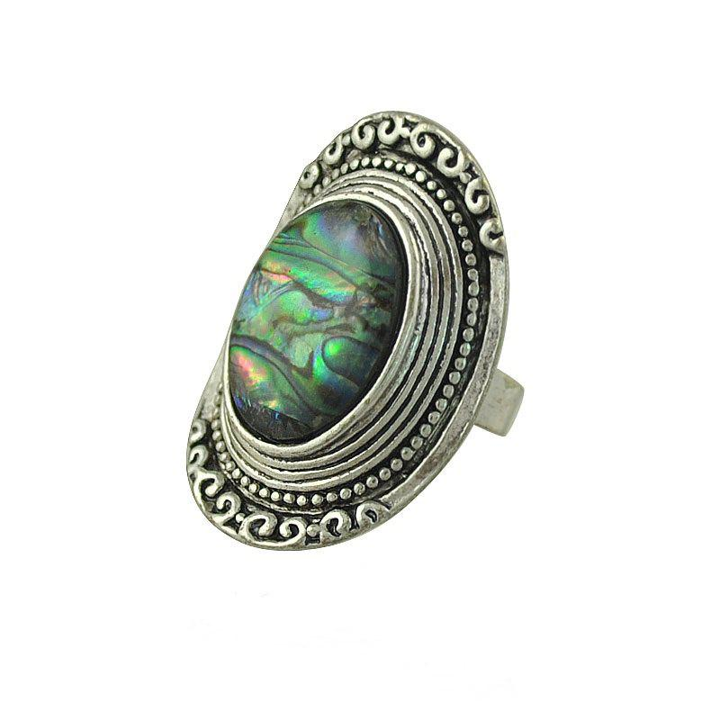 Affordable Adjustable Silver Plated Carving Ring