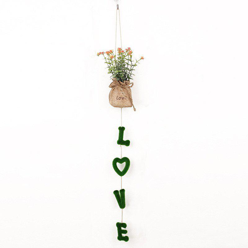 Online Exquisite Home Decoration Hanging Pots Fashion Artificial Plants