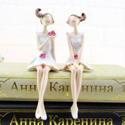 2PCS Home Accessories resin Crafts Furnishing Articles Gifts Figures Statues -