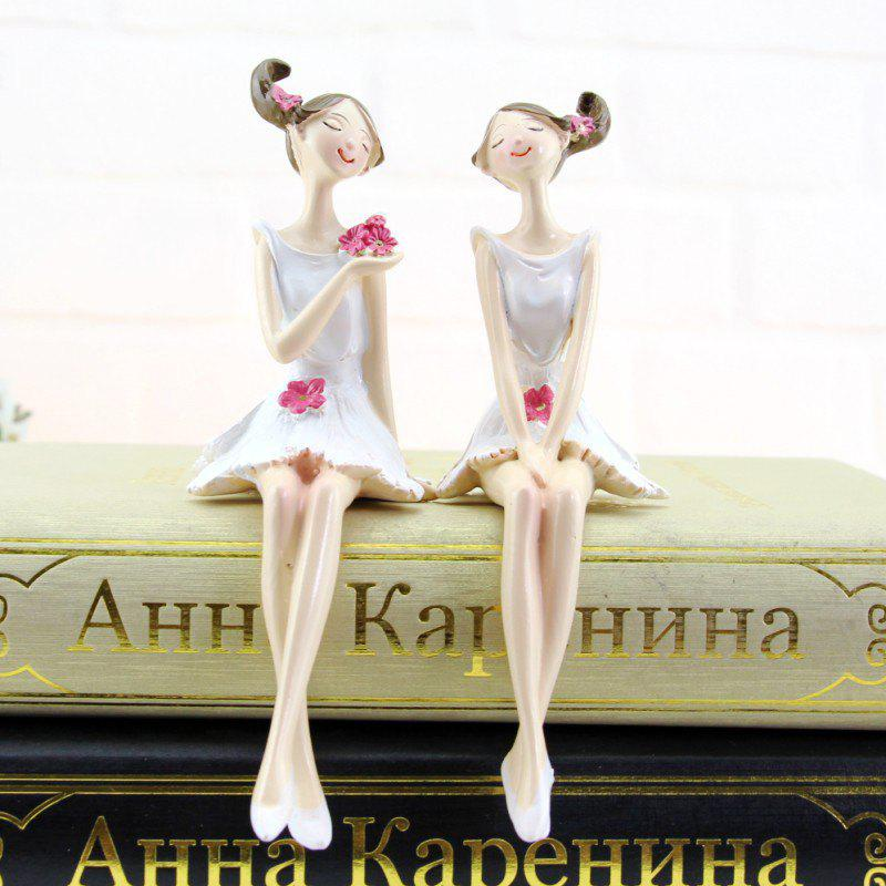 Cheap 2PCS Home Accessories resin Crafts Furnishing Articles Gifts Figures Statues