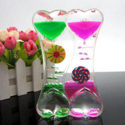 Leakage Colorful Glass Figurines Hourglass Gift Fun Oil Leak Timer -