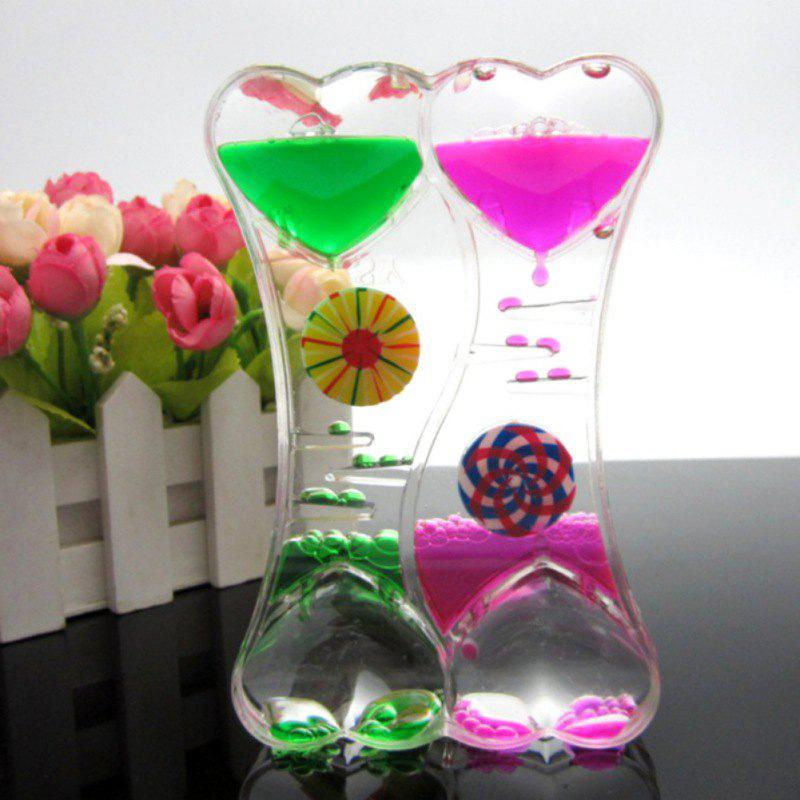 Trendy Leakage Colorful Glass Figurines Hourglass Gift Fun Oil Leak Timer
