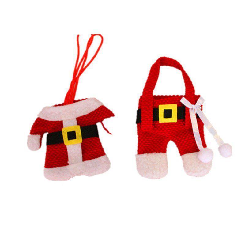 Fancy 3PCS Christmas Decorations Santa Silverware Holders Pockets Dinner Decor