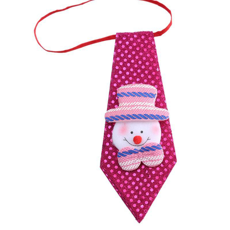 New Adult Child Sequins Glitter Christmas Accessories Bow Tie Decor for Kid