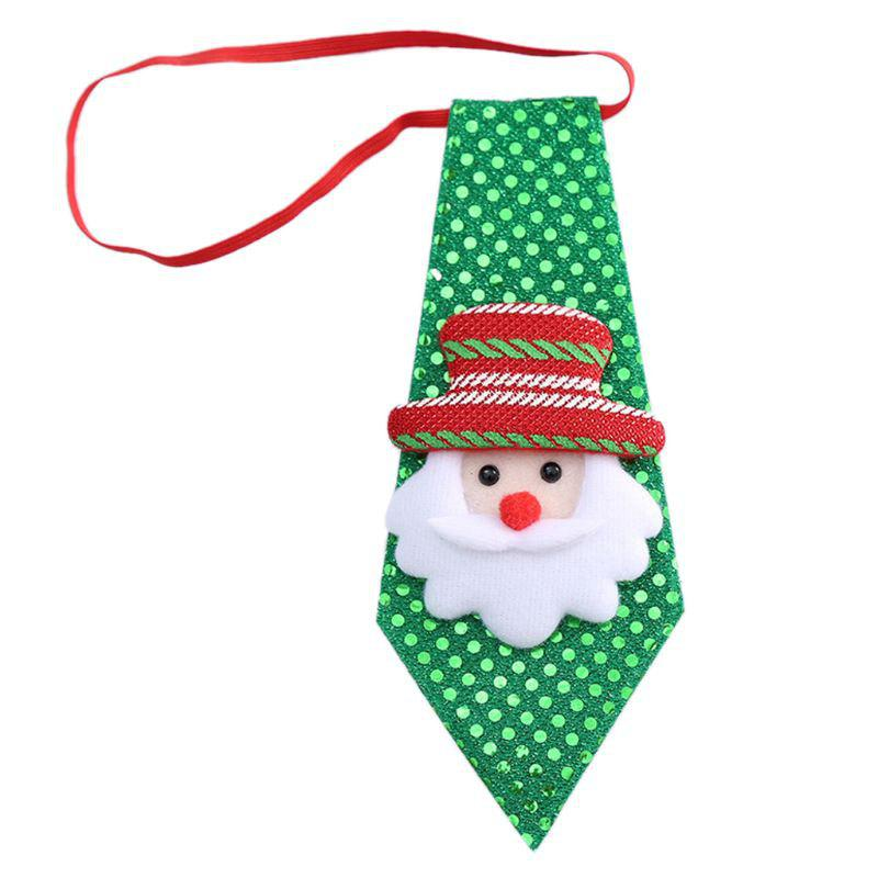 Trendy Adult Child Sequins Glitter Christmas Accessories Bow Tie Decor for Kid