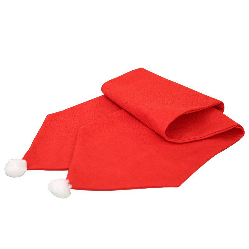 New 34X176CM Christmas Table Runner Mat Tablecloth Flag Home Party Decor Red