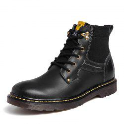 Men Leather Boots Work Shoes High Top Shoes Casual Shoes -