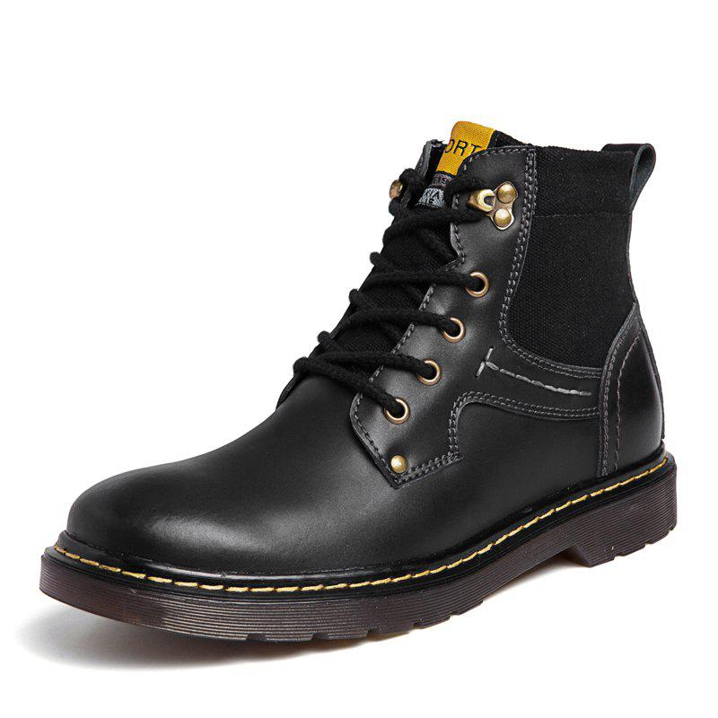 Fashion Men Leather Boots Work Shoes High Top Shoes Casual Shoes