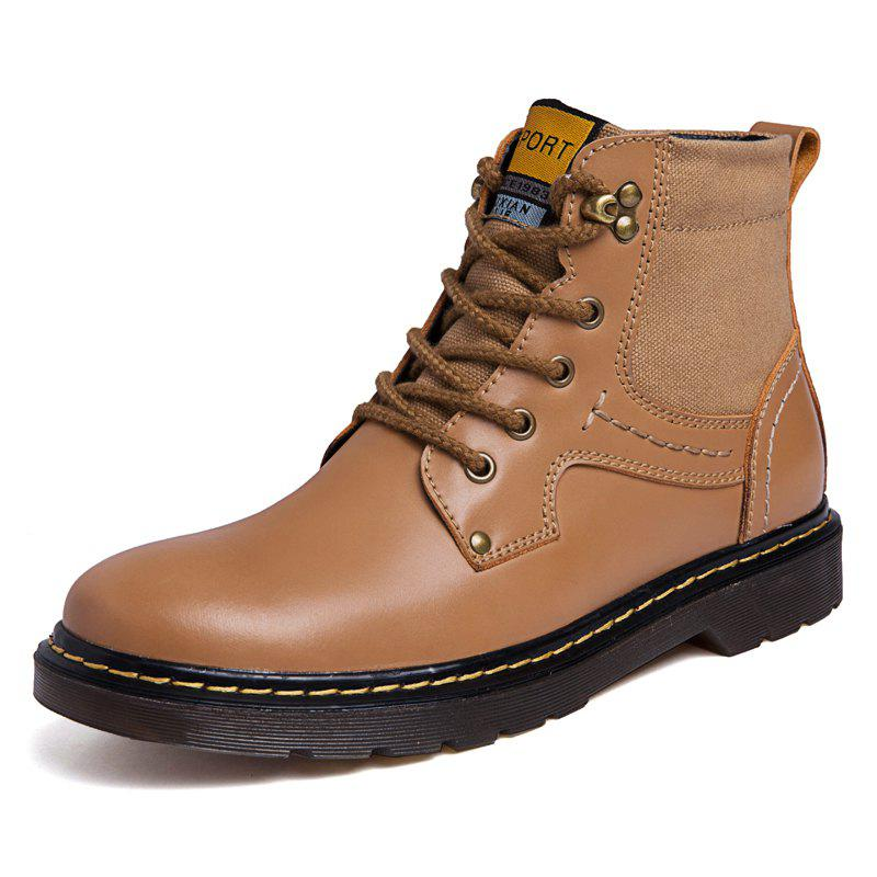 Discount Men Leather Boots Work Shoes High Top Shoes Casual Shoes