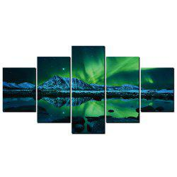 YISHIYUAN 5 Pcs HD Inkjet Paints Promise Light Abstraction Decorative Painting -