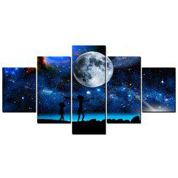 YISHIYUAN 5 Pcs HD Inkjet Paints Children's Dream Starry Sky Decorative Painting -