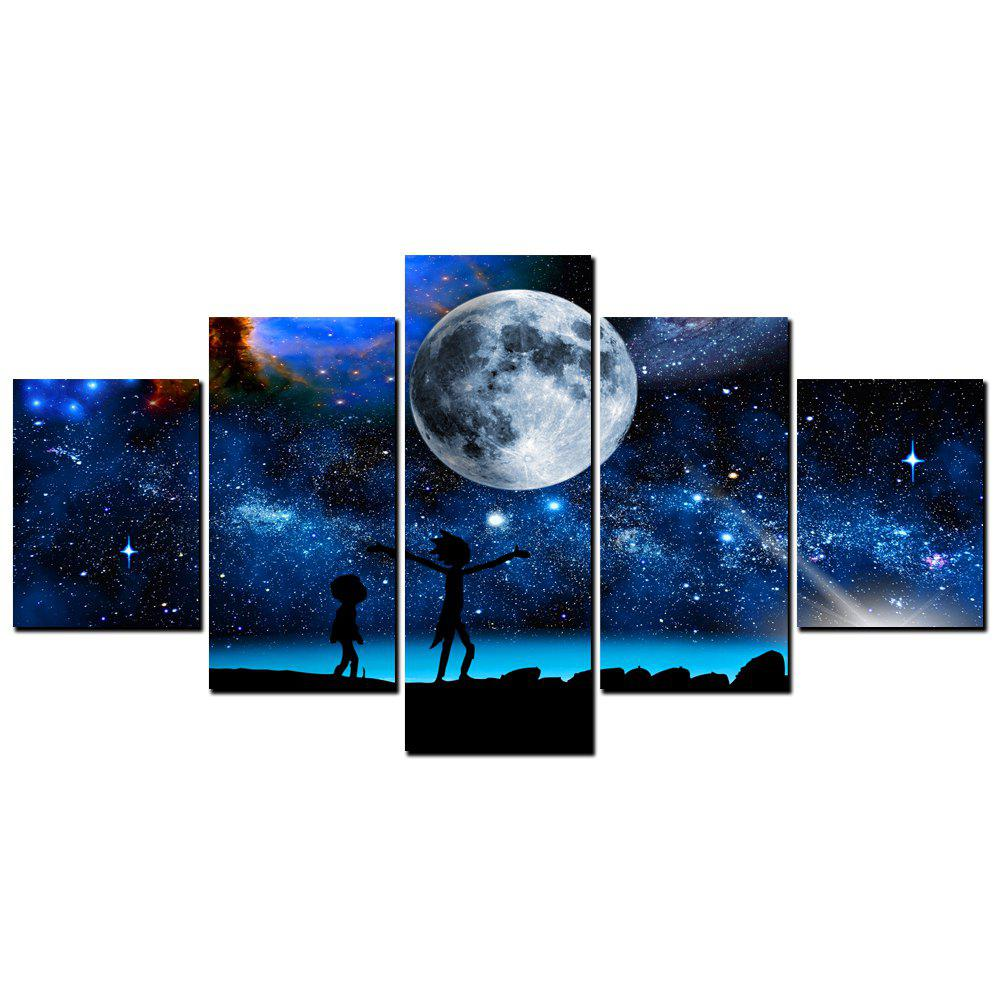 Affordable YISHIYUAN 5 Pcs HD Inkjet Paints Children's Dream Starry Sky Decorative Painting