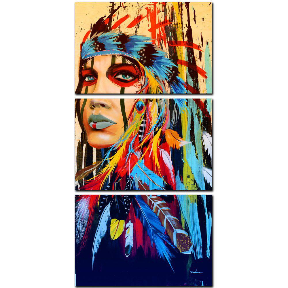 Hot YISHIYUAN 3 Pcs HD Inkjet Paints Indian Abstract Avatar Decorative Painting
