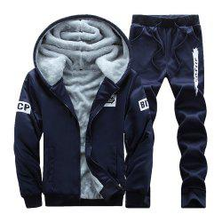 Men'S Hoodie Sports Suit with Long Sleeves for Two Pieces -