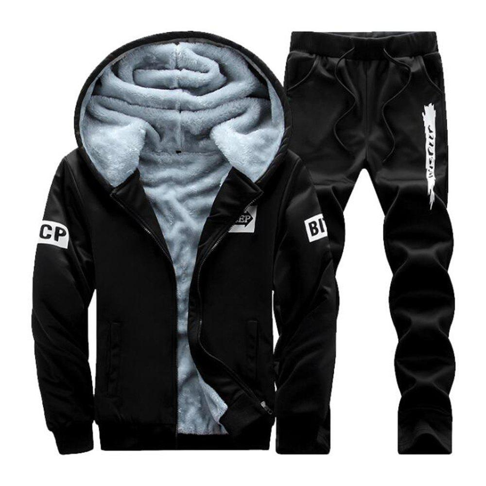 New Men'S Hoodie Sports Suit with Long Sleeves for Two Pieces