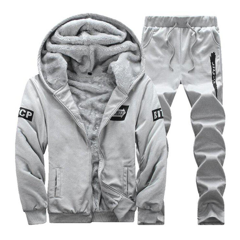 Hot Men'S Hoodie Sports Suit with Long Sleeves for Two Pieces