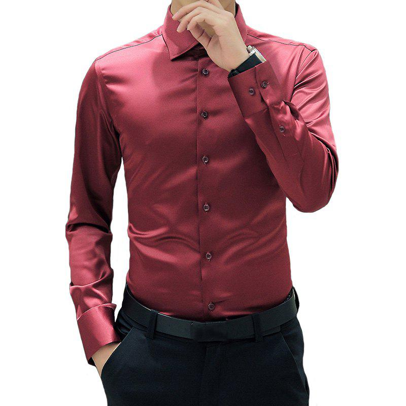 New Men'S All-Color Long-Sleeved Shirt Jacket Casual Shirt